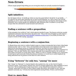 Non-Errors