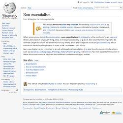 Non-essentialism - Wikipedia