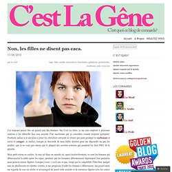 [French] Non, les filles ne disent pas caca. « C'est La Gêne-Mozilla Firefox