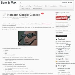 Non aux Google Glasses