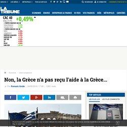 Non, la Grèce n'a pas reçu l'aide à la Grèce...