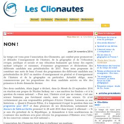 NON ! - Les Clionautes