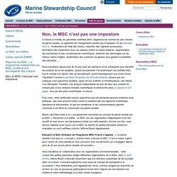 Non, le MSC n'est pas une imposture —