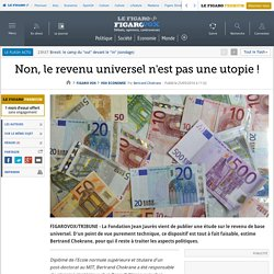 Non, le revenu universel n'est pas une utopie !