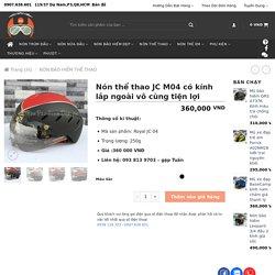 Nón thể thao JC M04 có kính lắp ngoài vô cùng tiện lợi