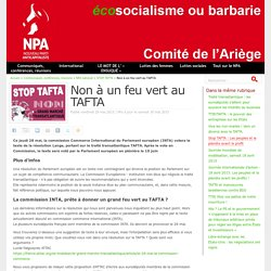 Non à un feu vert au TAFTA
