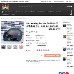 Nón xe đạp Fornix A02NM-E3 kính bảo hộ - gấp đôi an toàn