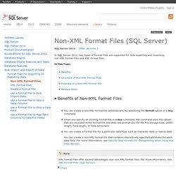 Understanding Non-XML Format Files