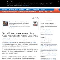 No evidence 449,000 noncitizens were registered to vote in California