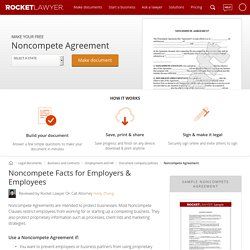 Noncompete Agreement Form