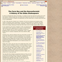 The Farm Boy and the Nonconformist: A History of the Globe Shakespeare [OSS paper]