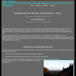 Nondestructive Editing in Photoshop
