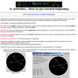 NonEuclid: Activities - How to get started Exploring