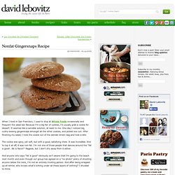Nonfat Gingersnaps Recipe