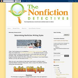The Nonfiction Detectives: Determining Nonfiction Writing Styles