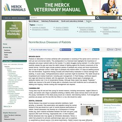 Noninfectious Diseases of Rabbits: Rabbits: Merck Veterinary Manual