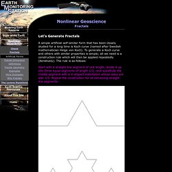 Nonlinear Geoscience (Fractals)
