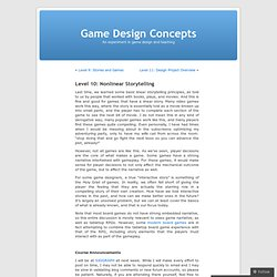 Level 10: Nonlinear Storytelling « Game Design Concepts