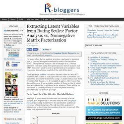 Extracting Latent Variables from Rating Scales: Factor Analysis vs. Nonnegative Matrix Factorization