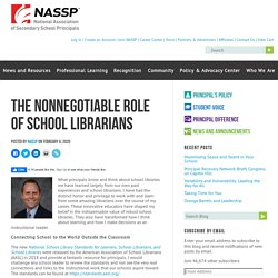 The Nonnegotiable Role of School Librarians