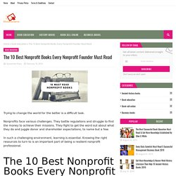 The 10 Best Nonprofit Books Every Nonprofit Founder Must Read