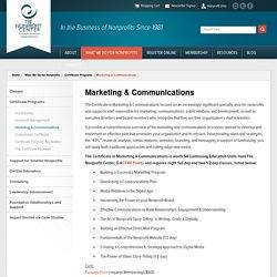 Nonprofit Marketing Training - Nonprofit Communications Skills