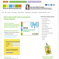 2012 Nonprofit Communications Trends Report | Nonprofit Marketing Guide