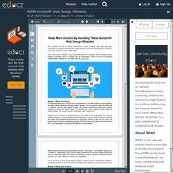 WEBii Nonprofit Web Design Mistakes