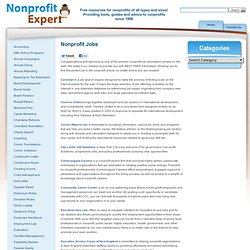 The most comprehensive non profit job resouces page on the web!