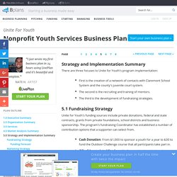 Nonprofit Youth Services Business Plan Sample - Strategy and Implementation