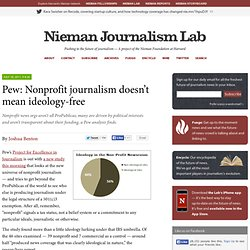 Pew: Nonprofit journalism doesn't mean ideology-free