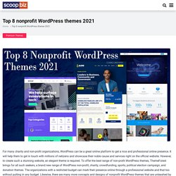 Top 8 nonprofit WordPress themes 2021 - scoopbiz.com