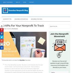 20 KPIs For Nonprofits To Track - Key Performance Indicators