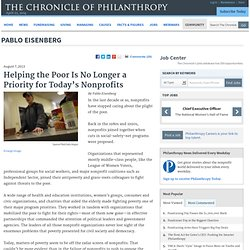 Poverty Is No Longer a Priority for Nonprofits - Pablo Eisenberg