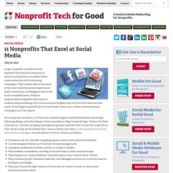 11 Nonprofits That Excel at Social Media