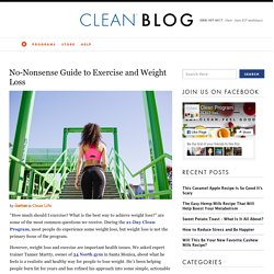 No-Nonsense Guide to Exercise and Weight Loss