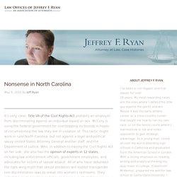 Nonsense in North Carolina