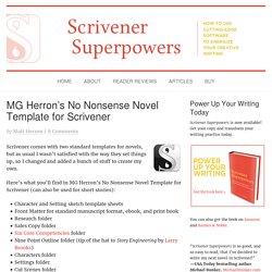 MG Herron's No Nonsense Novel Template for Scrivener