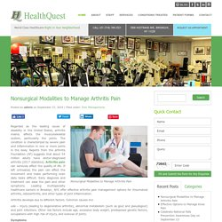 Nonsurgical Treatment Modalities to Manage Arthritis Pain