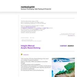Nontoxic Printmaking, Safe Painting & Printed Art