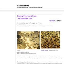 'Nontoxic' Printmaking & Printing
