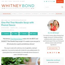 One Pot Thai Noodle Soup with Peanut Sauce - WhitneyBond.com