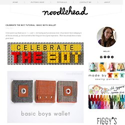 celebrate the boy tutorial: basic boys wallet