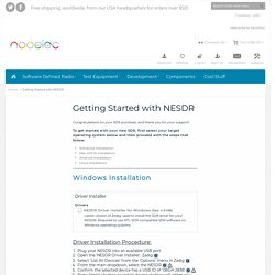Getting Started with NESDR