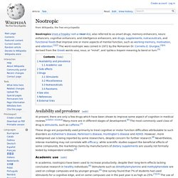 Wikipedia : Nootropic