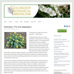 Nootropics: The new adaptogens