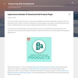 nopCommerce Number Of Viewed and Sold Products Plugin
