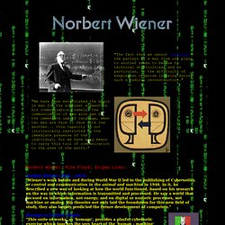 Norbert Wiener related links