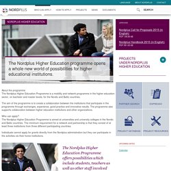 Nordplus Higher Education / Who can apply / Home - Nordplus