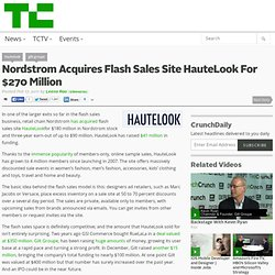 Nordstrom Acquires Flash Sales Site HauteLook For $270 Million